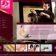 Sophisticated Web Based Salon Website