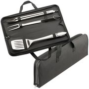 Customised BBQ Set   Branded 3 Piece Stainless Steel BBQ Set