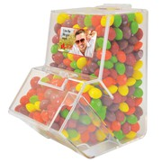 Imprinted Chewy Fruits | Assorted Fruit Skittles In Dispenser