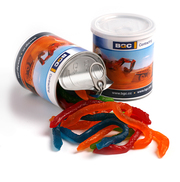 Custom Branded Snakes In Pull Can 200g | Vivid Promotions