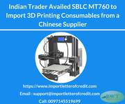 SBLC  – Standby LC - 3D Printing Supplies Import/Export