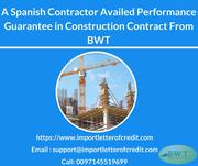 Avail Performance Guarantee in Construction from us